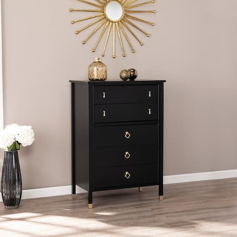 Mackenzie Transitional Black Anywhere Accent Storage Chest