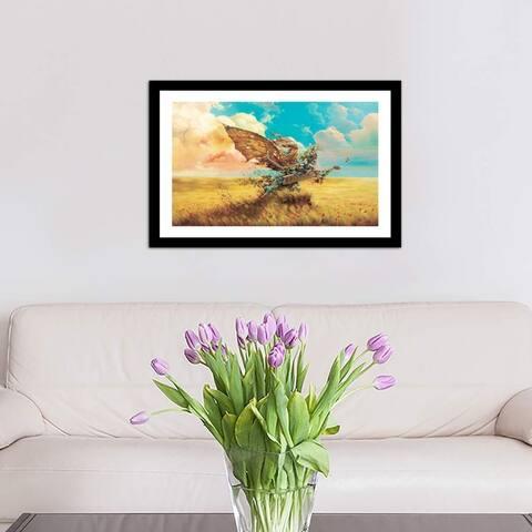 "iCanvas ""Freedom"" by Alexander Mikhalchyk Framed Fine Art Paper Print"