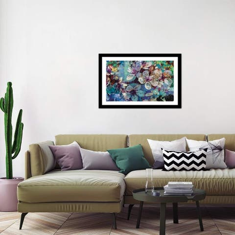 """iCanvas """"Full Bloom"""" by Jon Wassom Framed Fine Art Paper Print"""