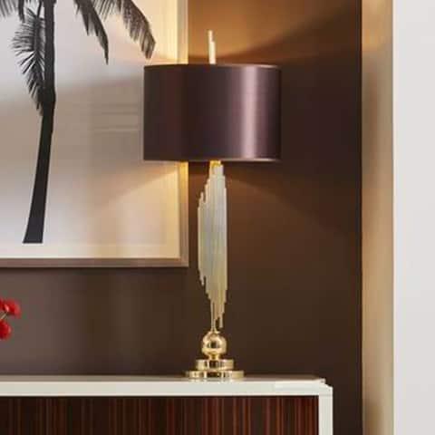 Strick & Bolton Carline Gold/ Brown Decorative Table Lamp