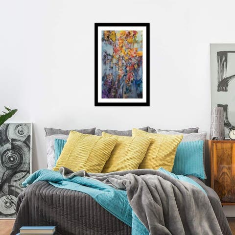"""iCanvas """"Fabric of Existence"""" by Jon Wassom Framed Fine Art Paper Print"""