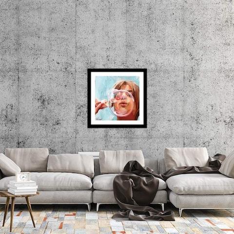 "iCanvas ""Blowing Bubbles"" by Teddi Parker Framed Fine Art Paper Print"