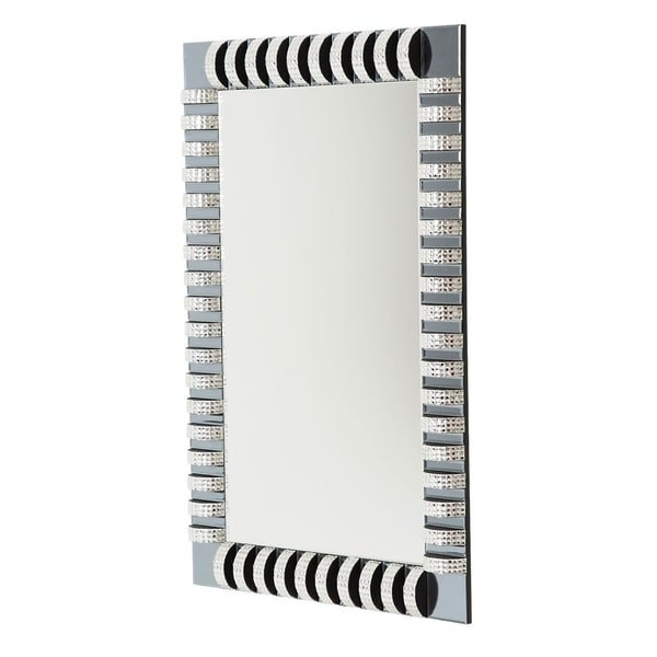 Montreal Rectangular Wall Mirror with Crystal and Glass