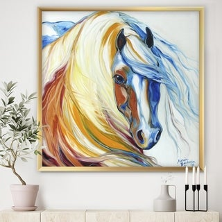 Designart 'Gypsy Vanner Dream' Cottage Framed Art Print