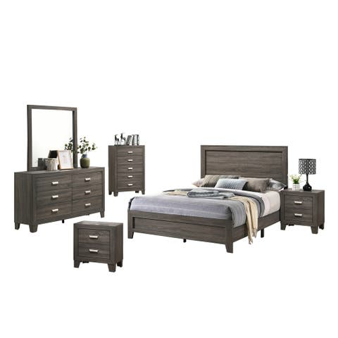 Best Quality Furniture Anastasia 6-Piece Bedroom Set