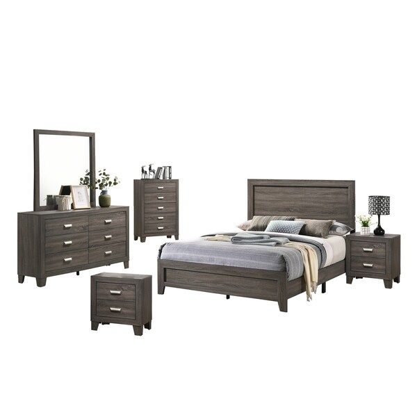 Best Quality Furniture Anastasia 6-Piece Bedroom Set. Opens flyout.