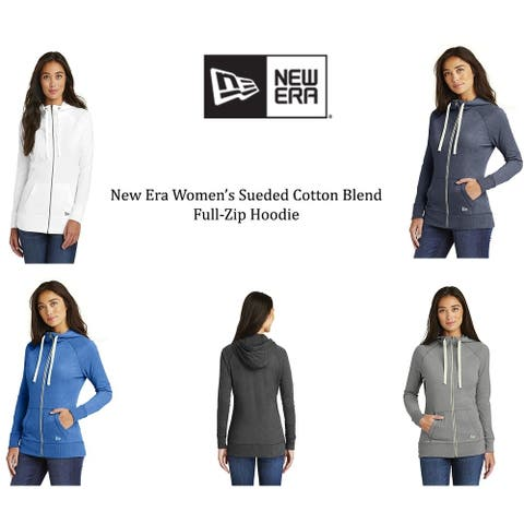 New Era Women's Sueded Cotton Blend Full-Zip Hoodie.