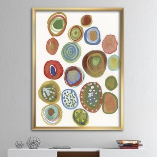Designart 'Circular Composition II' Mid-Century Modern Framed Art Print