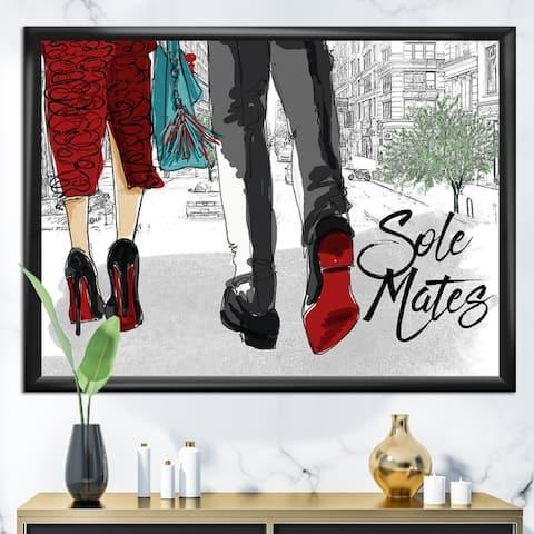 Designart 'Sole Mates' Fashion Framed Art Print