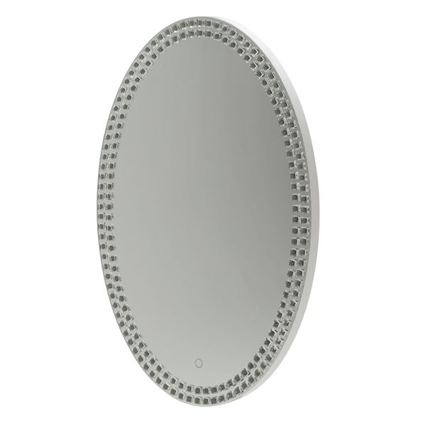 Montreal Crystal Oval Wall Mirror