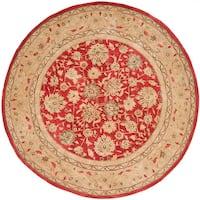Safavieh Handmade Anatolia Oriental Red/ Ivory Hand-spun Wool Rug - 8' x 8' Round