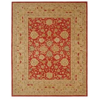 Safavieh Anatolia Handmade Red / Ivory Wool Rug (9'6 x 13'6)