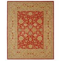 "Safavieh Handmade Anatolia Oriental Red/ Ivory Hand-spun Wool Rug - 9'6"" x 13'6"""