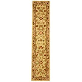Safavieh Handmade Anatolia Oriental Heirloom Ivory Hand-spun Wool Runner (2'3 x 8')