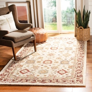 Safavieh Handmade Heirloom Ivory Wool Rug (9'6 x 13'6)