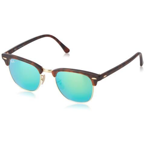 RayBan Men's 0RB3016M Clubmaster Sunglasses - Green Mirror