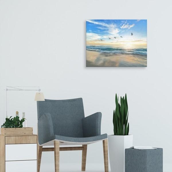 Coastal Flight Pattern by Studio Arts Canvas Art Print