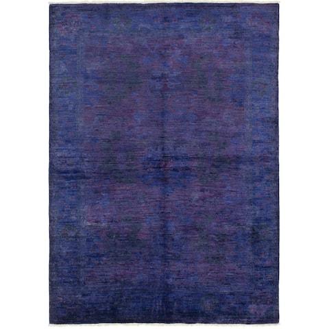 Hand-knotted Vibrance Indigo Wool Rug