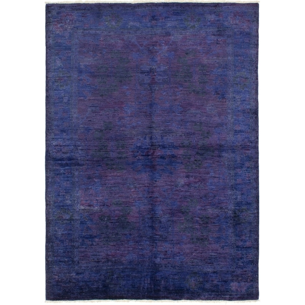 Hand-knotted Vibrance Indigo Wool Rug. Opens flyout.