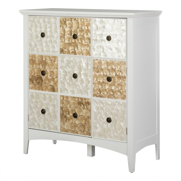 """Suduku 40"""" High Two Door - One Drawer Accent Cabinet in White"""