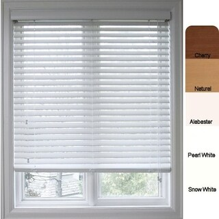 Arlo Blinds Customized Faux Wood 63-inch Window Blinds