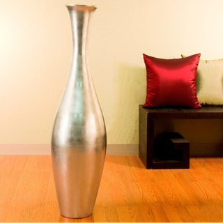 Egret Bamboo 44-inch-tall Floor Vase and Natural Branches