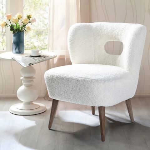 Carson Carrington Ullna Lambskin Sherpa Upholstery Barrel Chair