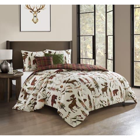 Carbon Loft Capozzoli 5-piece Reversible Comforter Set