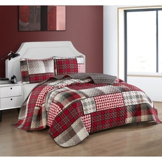 Link to Carbon Loft Allain 3-piece Reversible Quilt Set Similar Items in Quilts & Coverlets