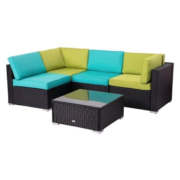 Kinsunny Rattan Wicker Sofa Set