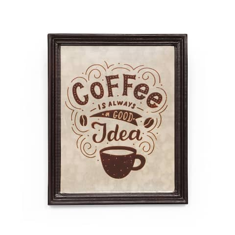 """Evanston Inspirational Coffee Wall Art by Christopher Knight Home - 0.75"""" D x 9.50"""" W x 11.50"""" H"""