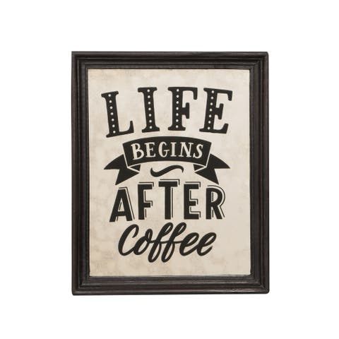 """Erbie Inspirational Coffee Wall Art by Christopher Knight Home - 0.75"""" D x 9.50"""" W x 11.50"""" H"""