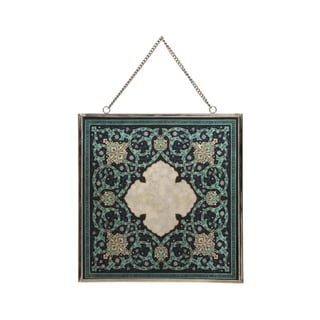 """Link to Eldi Oriental Tempered Glass Wall Accessory by Christopher Knight Home - 0.25"""" D x 12.00"""" W x 12.00"""" H Similar Items in Decorative Accessories"""