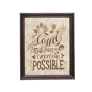 """Ethel Inspirational Coffee Wall Art by Christopher Knight Home - 0.50"""" D x 9.25"""" W x 11.25"""" H"""