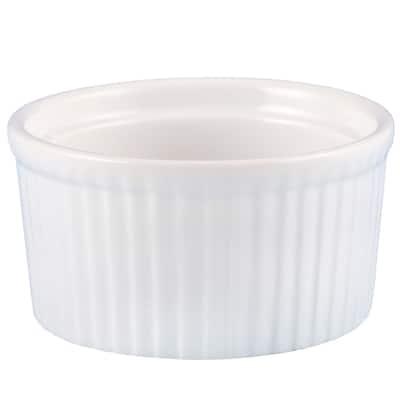 Creative Home Set of 6 Ceramic Ramekin, 4 oz, White