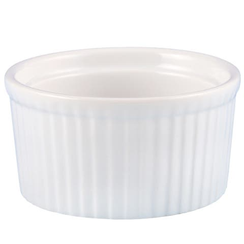 Creative Home Set of 6 Ceramic Ramekin, 4 oz, White