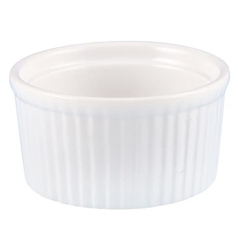 Creative Home Set of 6 Ceramic Ramekin, 3 oz, White