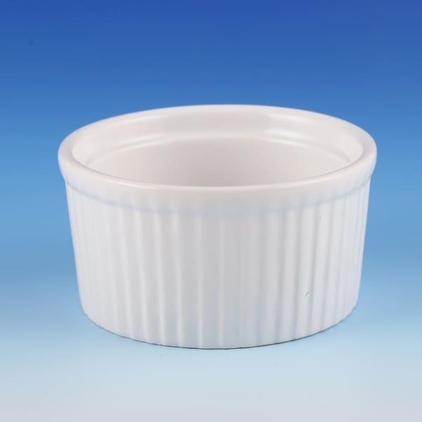 18oz White Porcelain 6-Piece Ramekin Set Dishwasher Microwave and Oven Safe!