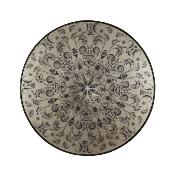 """Gravelle Antique Round Mandala Mirror by Christopher Knight Home - 30.50"""" W x 1.00"""" D x 30.50"""" H"""