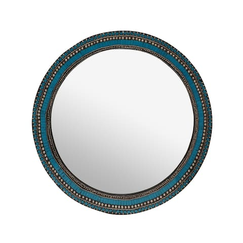 "Geyer Bead Mosaic Mirror by Christopher Knight Home - 30.00"" L x 30.00"" W x 0.25"" D"
