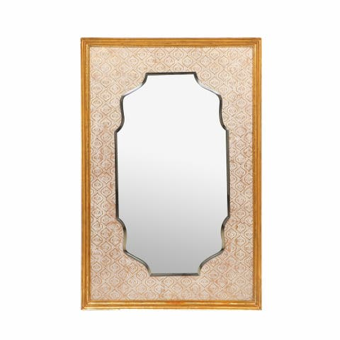 "Hickok Traditional Embossed Rectangular Mirror by Christopher Knight Home - 42.00"" L x 28.00"" W x 1.75"" D"