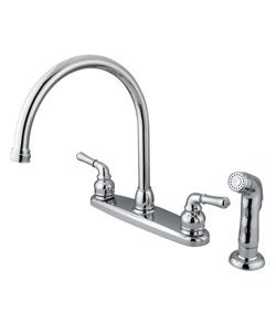 Dual Handle Chrome Kitchen Faucet