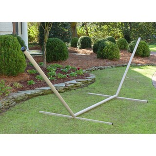 Taupe Steel Hammock Stand