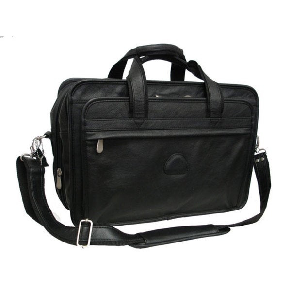 Amerileather Practical Expandable Leather Laptop Briefcase. Opens flyout.