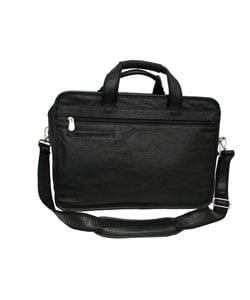 Amerileather Practical Expandable Leather Laptop Briefcase - Thumbnail 1
