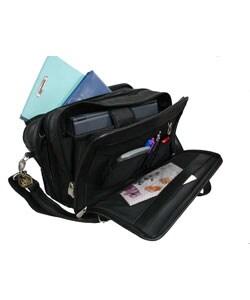 Amerileather Practical Expandable Leather Laptop Briefcase - Thumbnail 2