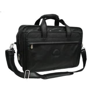 Amerileather Practical Expandable Leather Laptop Briefcase|https://ak1.ostkcdn.com/images/products/3017527/P11163053.jpg?impolicy=medium