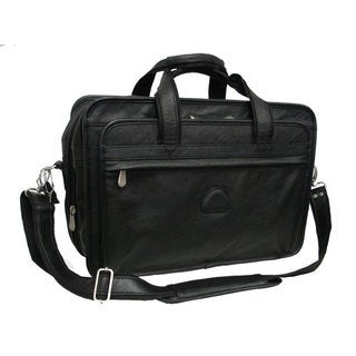 Amerileather Practical Expandable Leather Laptop Briefcase