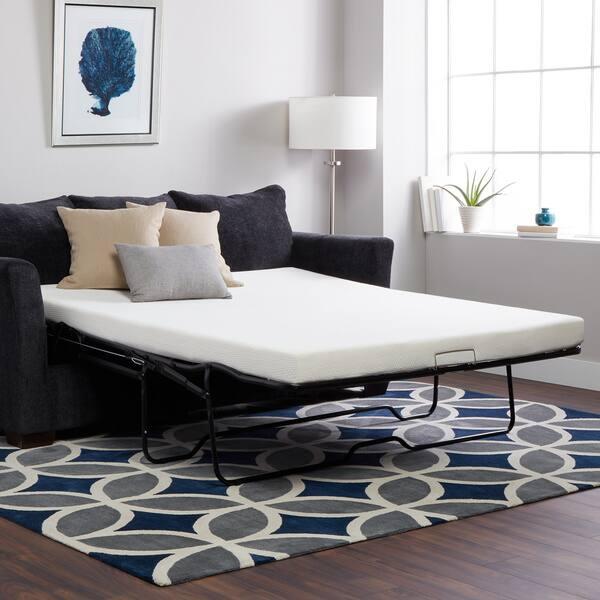 Select Luxury New Life Memory Foam 4 5 Inch Sofa Bed Sleeper Mattress Mattress Only Overstock 3018750