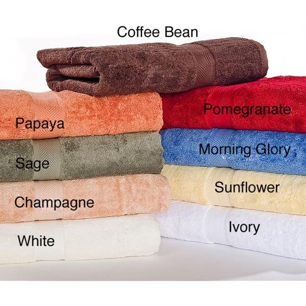 Calcot Supima Cotton Loop Fast-Drying Towel 6-piece Towel Set